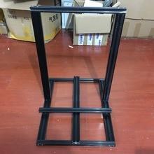 Funssor Creality CR 10/Tornado 3D printer 300mm V slot aluminum extrusion frame kit black anodized  V slot mechanical frame set