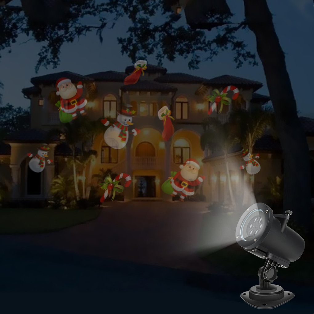 Christmas LED Projector Lights Landscape Spotlight For Halloween Birthday Wedding Party 10 white slides