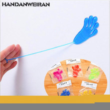 5PIECE  funny novel viscous soft hand toys Sticky Hands Gags Valentine's Day gift fun toys for kids gift 2018 new