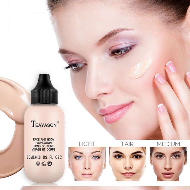 2019 perfecto nuevo 60 ml base suave mate largo desgaste aceite Control corrector líquido base crema moda mujer maquillaje