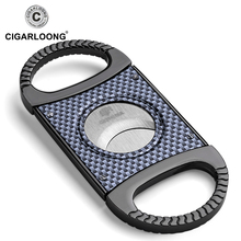 CIGARLOONG Carbon Fiber grain Stainless Steel Cigar Cutter Punch with gift box CL-049
