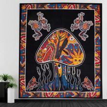 CAMMITEVER Table Cloth Mandala Tapestry Hippie Frogs Mushrooms Tapestries Boho Bedspread Beach Towel Yoga Mat Blanket