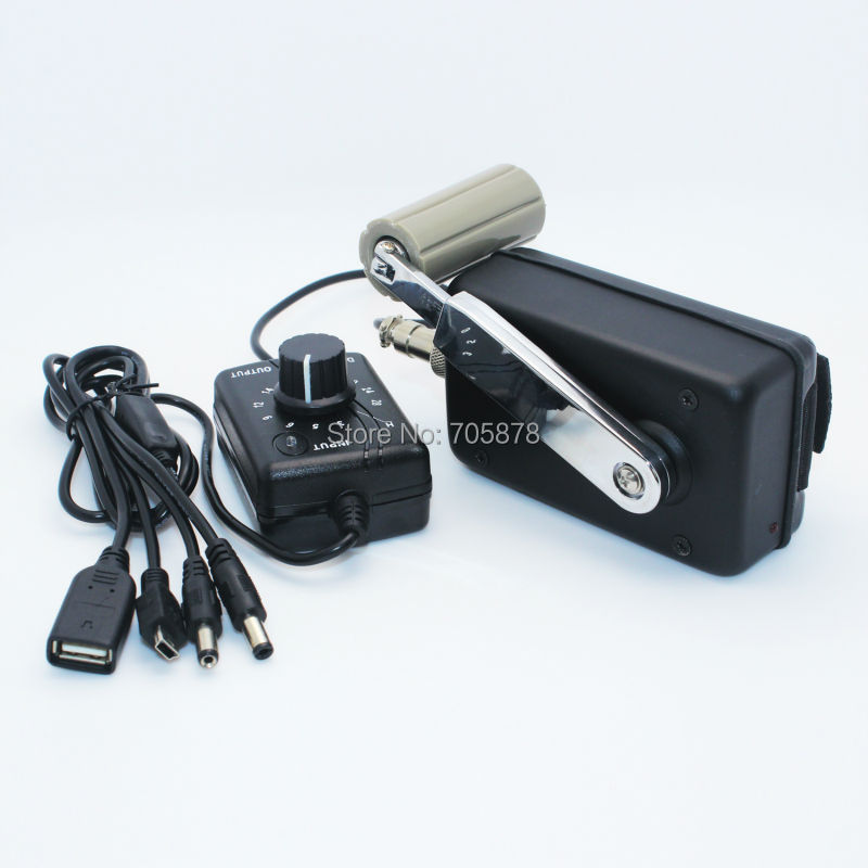 Outdoor Portable Phone Charger Civil Hand Crank Generator Small Dynamo with DC DC Converter