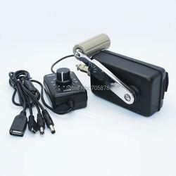 Zewnętrzna przenośna ładowarka do telefonu Civil korba ręczna Generator mały Dynamo z konwerterem DC-DC