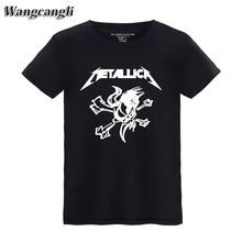 wangcangli Metallica Rock Band new t shirts men fashion 2017 short sleeve Mens Spring Autumn Cool Lovers T-Shirt