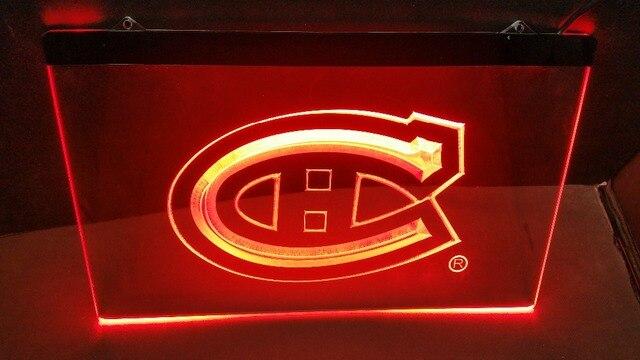 SP 02 Montreal Canadiens Hockey NR beer bar pub club 3d signs LED ...