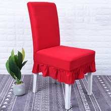 New 2019 Ruffled Floral Printing Chair Covers Spandex For Wedding Dining Office Banquet Stretch Elastic Flounced coverings бумажные обои covers wall coverings diamond 18 carbon page 7