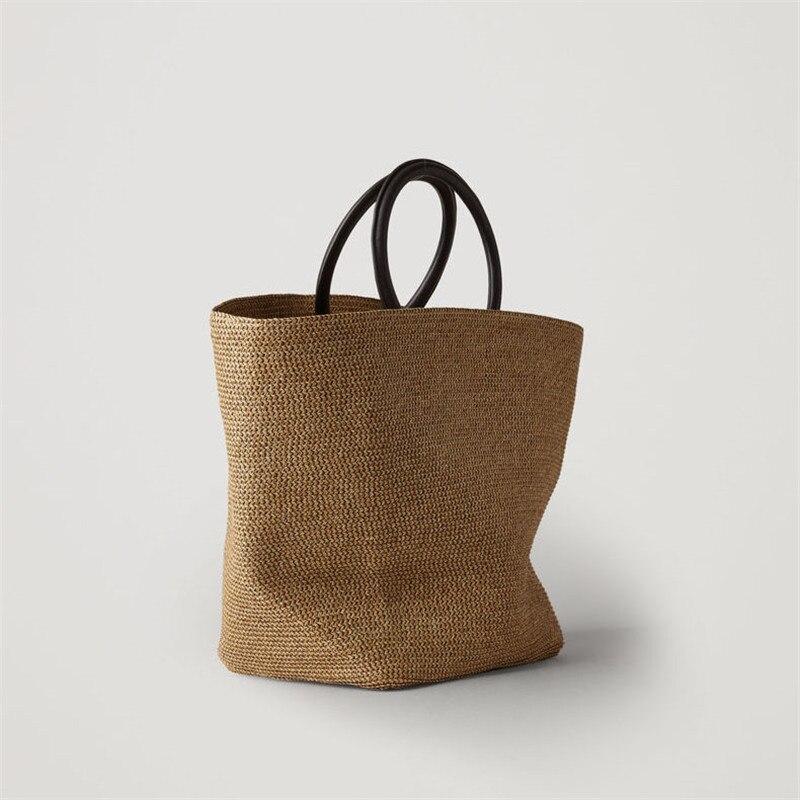 Straw handbags female 2019 summer new large capacity seaside leisure simple beach holiday tote bag