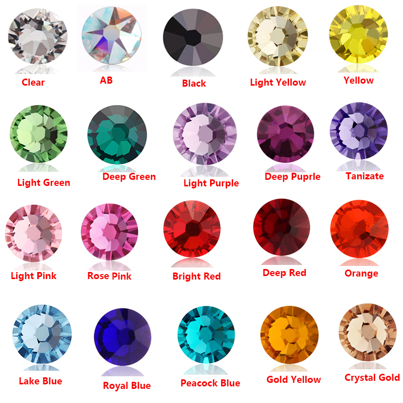 8big +8 small Cut Facets Nail Strass ss7 (2.2-2.3mm) Clear Crystal AB Flatback Non Hotfix Rhinestones swarowsky crystals Stones цена