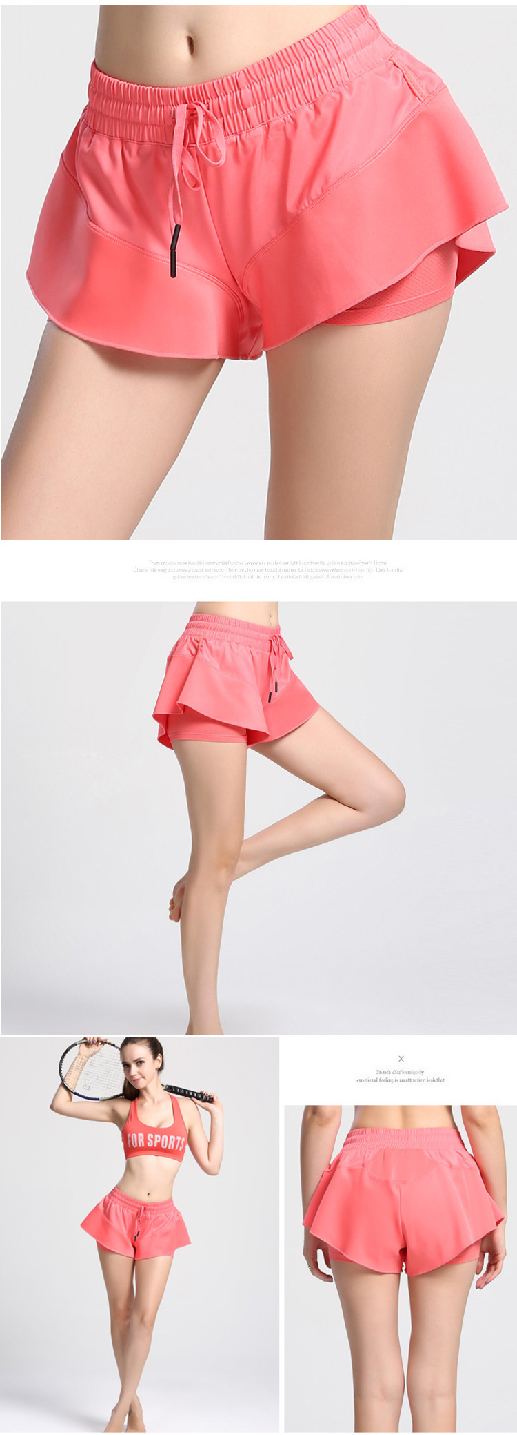 FASTORM Women Running Sports Shorts 2 In 1 Fitness Tennis Skort Gym Jogging  Athletic Tight Skirts Sportswear For Dropshipping