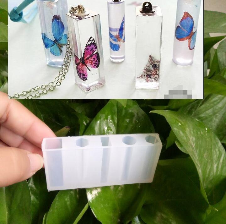 Spiksplinternieuw 1pcs Vloeibare siliconen mal DIY hars sieraden hanger ketting XR-14