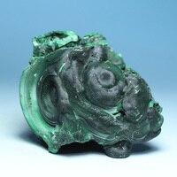 Natural dark green of malachite green malachite stone specimens / Boutique ore mine mark rough stone stone