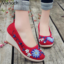 2019 New Fashion Womens Shoes Wedges Slip On Shoe Summer Spring Autumn Lady Size 40 aa0783