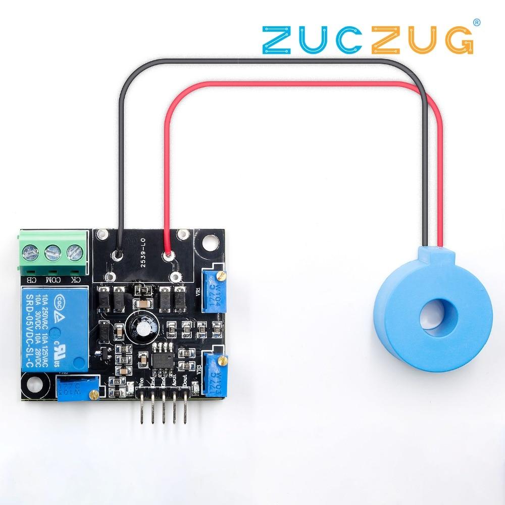DC 5V Current Detector Sensor Module AC / Short Circuit Detection Max AC 50A Digital Output