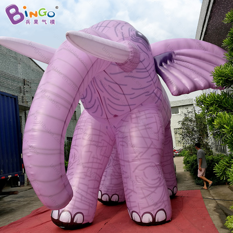 6*5*5mH Tall inflatable elephant, new style printed giant inflatable cartoon elephant  inflatable animals/inflatable mascots inflatable cartoon customized advertising giant christmas inflatable santa claus for christmas outdoor decoration