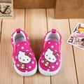 Olá kitty crianças shoes meninas shoes 2017 de moda de nova deslizamento em Crianças Casuais Das Sapatilhas de Lona Sola Macia Da Criança Do Bebê Da Menina shoes