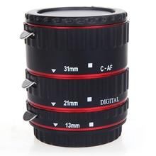 TTL Автофокус АФ Макро Удлинитель Кольцо для Canon EF EF-S линзы Красный