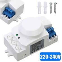 220V 5.8GHz Microwave Movement Motion Switch Radar Sensor Light 360 Degree Smart Detector For Lighting