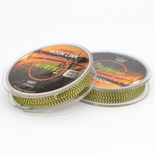 2pcs Carp Fishing Line Braided Hook Link 8 String 20m 35lb Green Black Mix Color For Coarse Carp Fishing Tackle