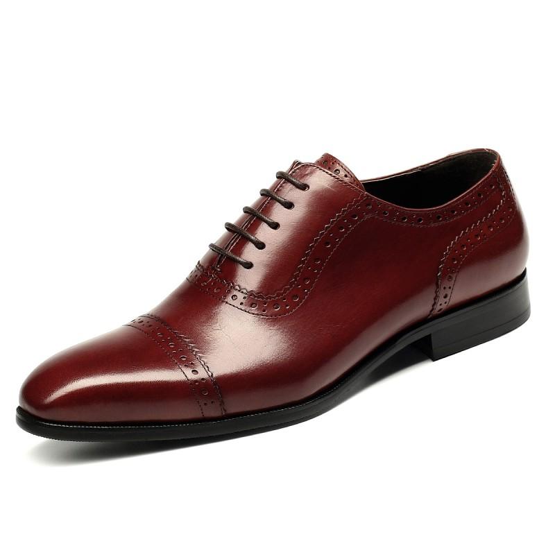 Casamento Preto Homens Para Top Couro vermelho Inverno De Vestido Respirável Outono Oxfords Masculinos Negócios Sapatos Costura Apontou Low amarelo 6qHwFnx4