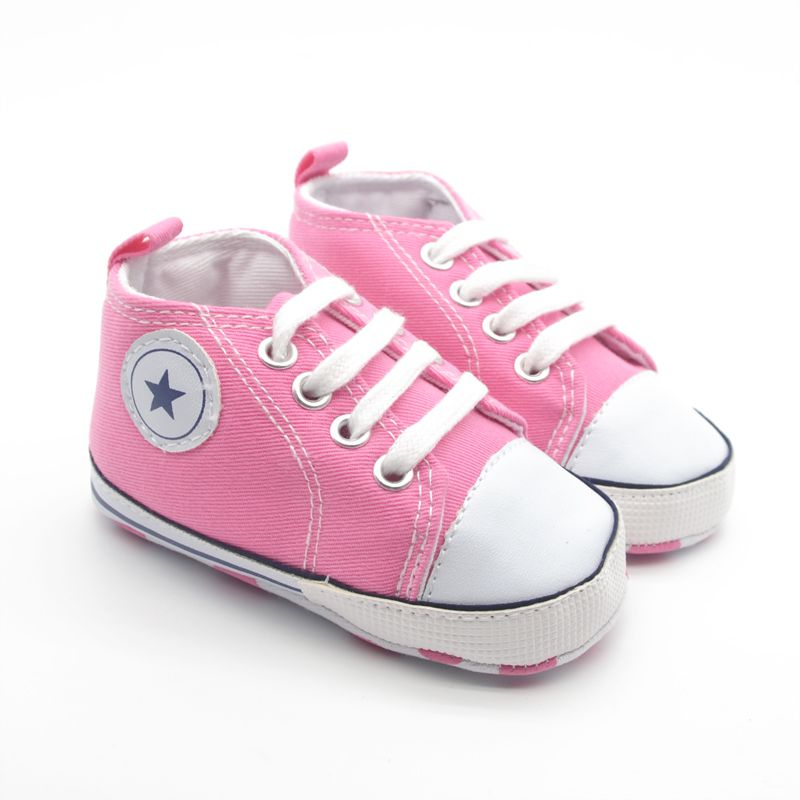 Infant Baby Shoes Infant Cotton Fabric First Walkers Soft Sole Shoes Girl Boys Footwear