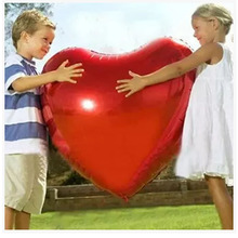 Wedding Balloon Supersize 75cm Red Heart Shap Foil Air Balloons Wedding Party Say Love Decorations Marriage Ballon Supplies