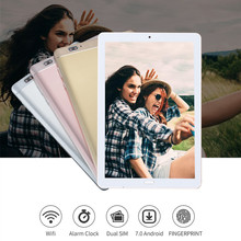 Fingerprint Recognition 10.2 inch Tablet 4G LTE Octa Core 4GB+64GB Android 7.0 Tablet PC 1920*1280 Wifi GPS Tablets  10 10.1