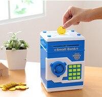 Piggy Bank Mini ATM Money Box Safety Electronic Password Chewing Coins Cash Deposit Machine Saving Box