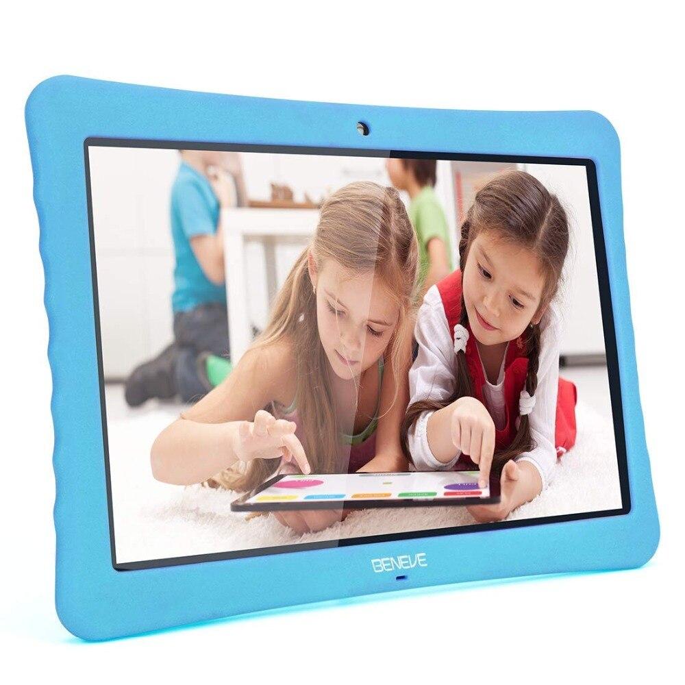 Детские планшеты PC 10,1 дюймов 1080P Full HD дисплей Android 7,0, 2 ГБ + ГБ 32 двойной камера спереди 2MP сзади 5MP Bluetooth wi fi