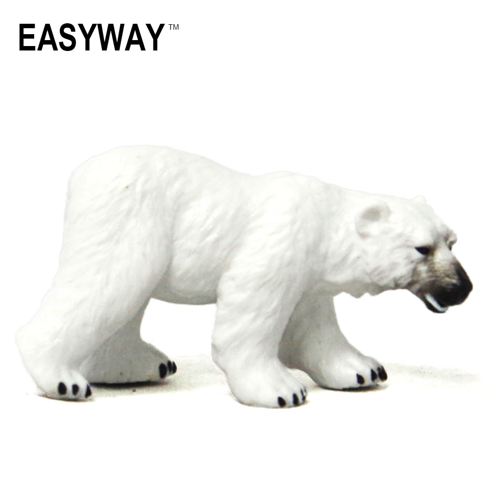 Mr.Froger Polar Bear Model Toy Wild Animals Toys Set Zoo modeling Solid Plastic PVC Dolls Children Science and Education White aidetek 4 units of box all 144 enclosure for surface mount components 1206 0805 0603 0402 0201 size plastic part box 4boxall