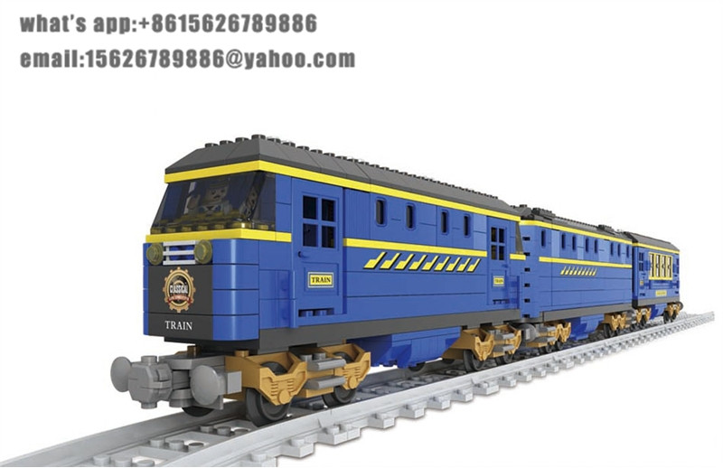 Ausini building block set compatible with lego transportation train 0018 3D Construction Brick Educational Hobbies Toys for Kids
