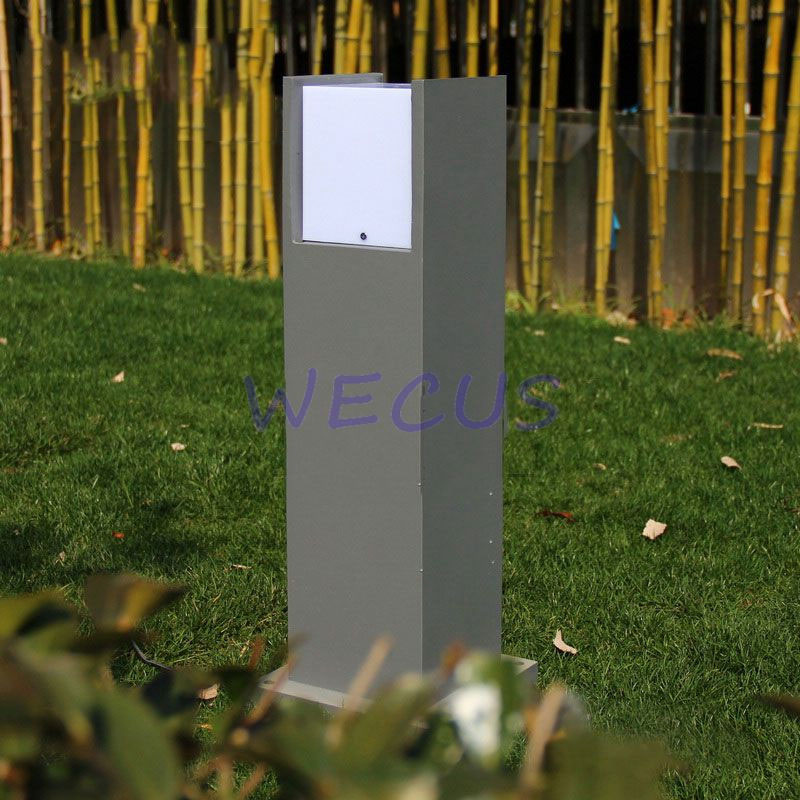 Modern rectangle aluminum lawn lamps waterproof garden lights fashion nackyard landscape residential lighting in LED Lawn Lamps from Lights Lighting