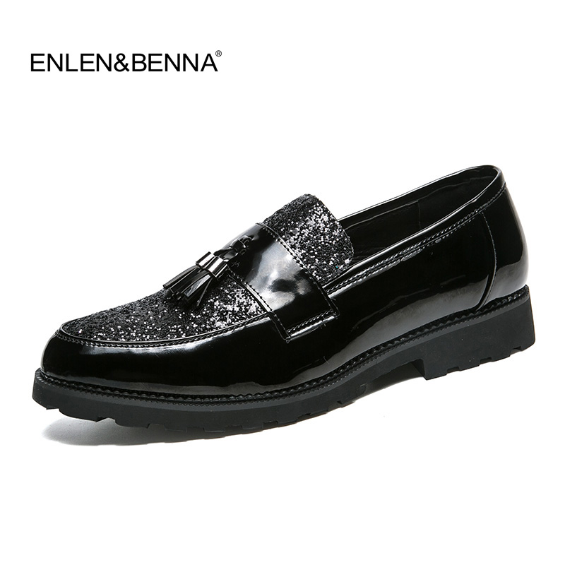 Formal Shoes Shoes Knowledgeable Fashion Tassel Glossy Patent Leather Men Shoes Luxury Brand Snake Skin Male Dress Footwear Designer Brogue Oxford Shoes For Men