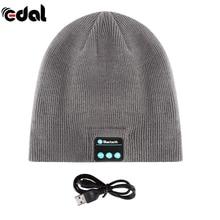 Soft Warm Beanie Hat Wireless Bluetooth Smart Cap Headphone Headset