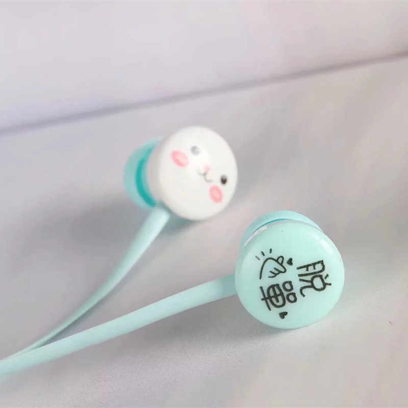 Cute Cat Earphones Music Headset 3 5mm Cartoon Earbuds With Mic For Xiaomi  MP3 ipd Children Girl Kids Gift