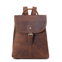 Mini Backpack Men Genuine Leather Business Bag for Teenager Women Bagpack Crazy Horse Back Pack Female School Bag Large Mochilas