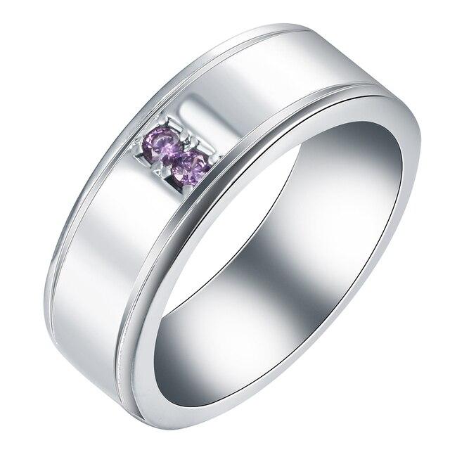 Aliexpresscom Buy wedding band for men ring jewelry Rhodium