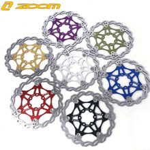 ZOOM Mountain Bike MTB DH 6 inch 160mm 180mm 203mm Float Floating Disc Brake Rotor Cycling Bicycle Rotors disc brake цены онлайн