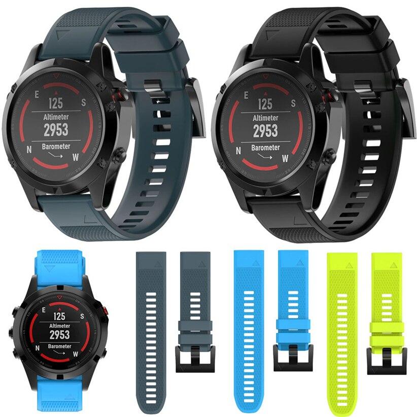 Penggantian Penggantian Band Pintar Silicagel Tali Lembut Untuk Garmin Fenix 5 Jam Tangan GPS Jualan Hot Digital Futural MAY31