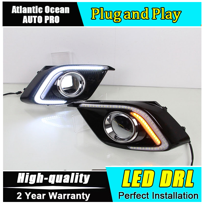 JGRT car styling For Mazda 3 Axela LED DRL For Mazda 3 Axela led fog lamps daytime running light High brightness guide LED DRL 2x auto car styling daytime running head light drl white led driving fog lamp fit for 2014 mazda 3 axela exterior accessories