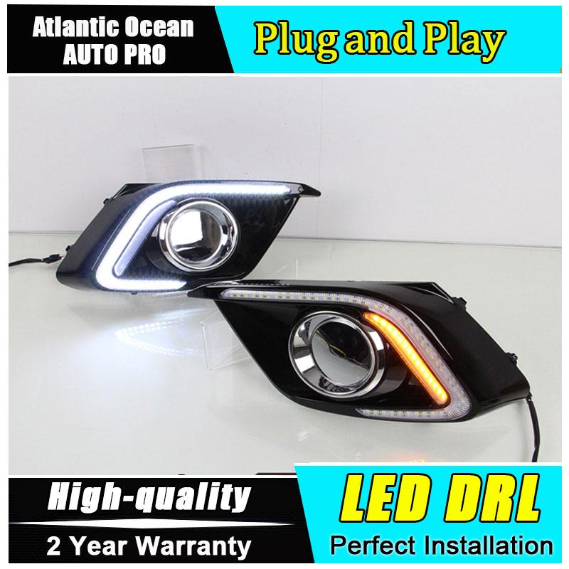 JGRT стайлинга автомобилей для Mazda 3 Axela СИД DRL для Mazda 3 Axela LED противотуманные фары дневного света высокой яркости СИД DRL руководство