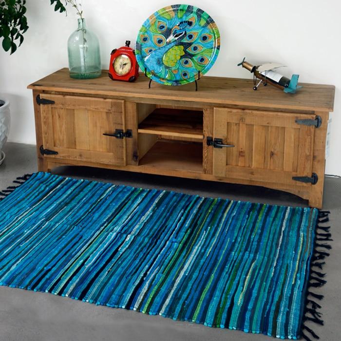 Килим Твердый 100% хлопок Ванная комната гостиная ковер геометрический индийский ковер полосатый современный коврик современный дизайн в скандинавском стиле