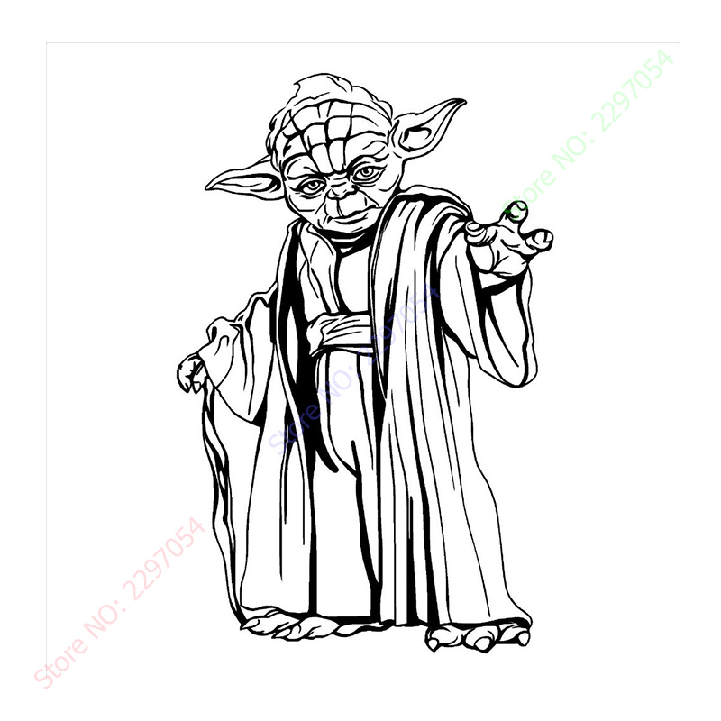 Free shipping New YODA STAR WARS WALL ART STICKER wall Decal DIY Home Decoration Wall Mural Removable Bedroom Sticker 57x88cm line art