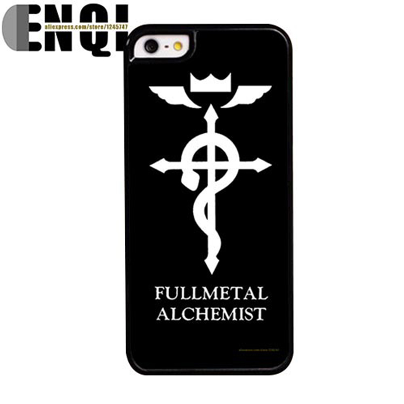 Fullmetal Alchemist imprint Printing Pattern DIY TPU/PC Material Mobile Protection Cover Cases for iPhone 4S 5 5S 5SE 6S 6S 6P
