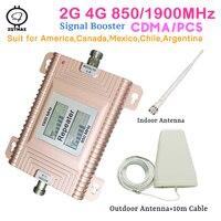 Monitores LCD CDMA 850 PCS 1900 direcional 2G 3G 4G amplificador impulsionador do sinal cdma reforço inteligente kits para todas as operadoras de celular