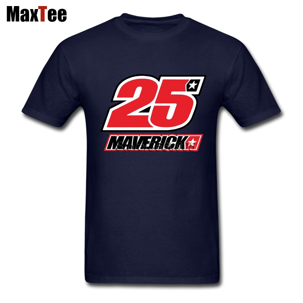 Maverick Vinales 25 Logo Male 80S Grunge Tees Shirt Top Racer Rider Men Short Sleeve Cheap Branded Top Apparel