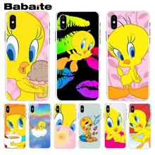Babaite funny Tweety Bird cute First-rate Phone Case For iphone 7 7plus X 8 8plus And 5 5s 6s 6s Plus Mobile Phone Case(China)