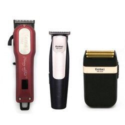 Kemei профессиональная машинка для стрижки волос мощный Электрический Машинка для стрижки волос бритвы волосы станок для бритья стрижки боро...