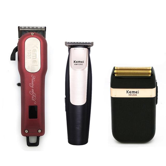 Kemei recortador de pelo profesional poderoso de pelo eléctrica Clipper  máquina de afeitar el pelo del pelo de la máquina de corte de la barba de  afeitar ... 877752d36d99