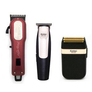 Image 1 - Kemei Professional Hair Trimmer Starke Elektrische Haar Clipper Rasierer Haar Rasieren Maschine Haar Schneiden Bart Elektrische Rasiermesser